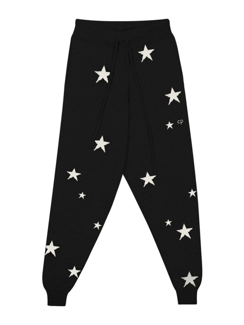 Chinti & Parker Loungewear Navy Star Cashmere Track Pants