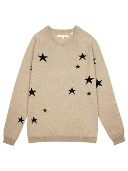 Chinti & Parker Loungewear Oatmeal Slouchy Star Cashmere Sweater