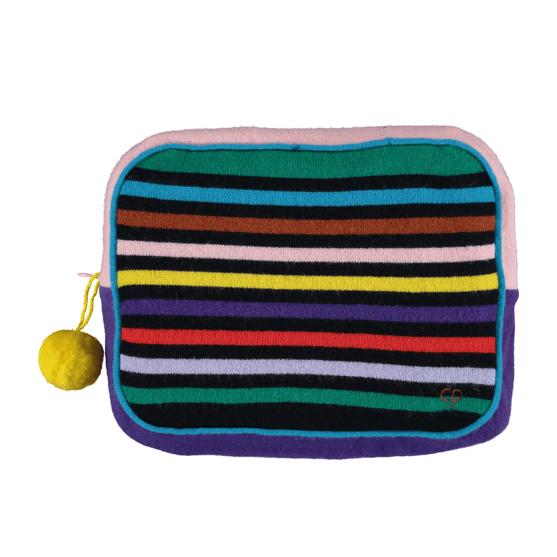 Chinti & Parker Travel Set Navy Rainbow Cashmere Travel Set