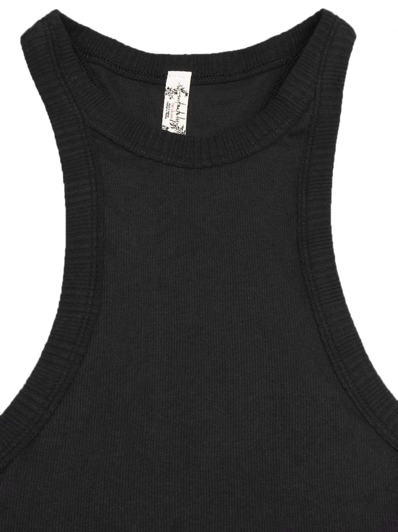 Free People Loungewear Black Wide Eye Racerback Tank