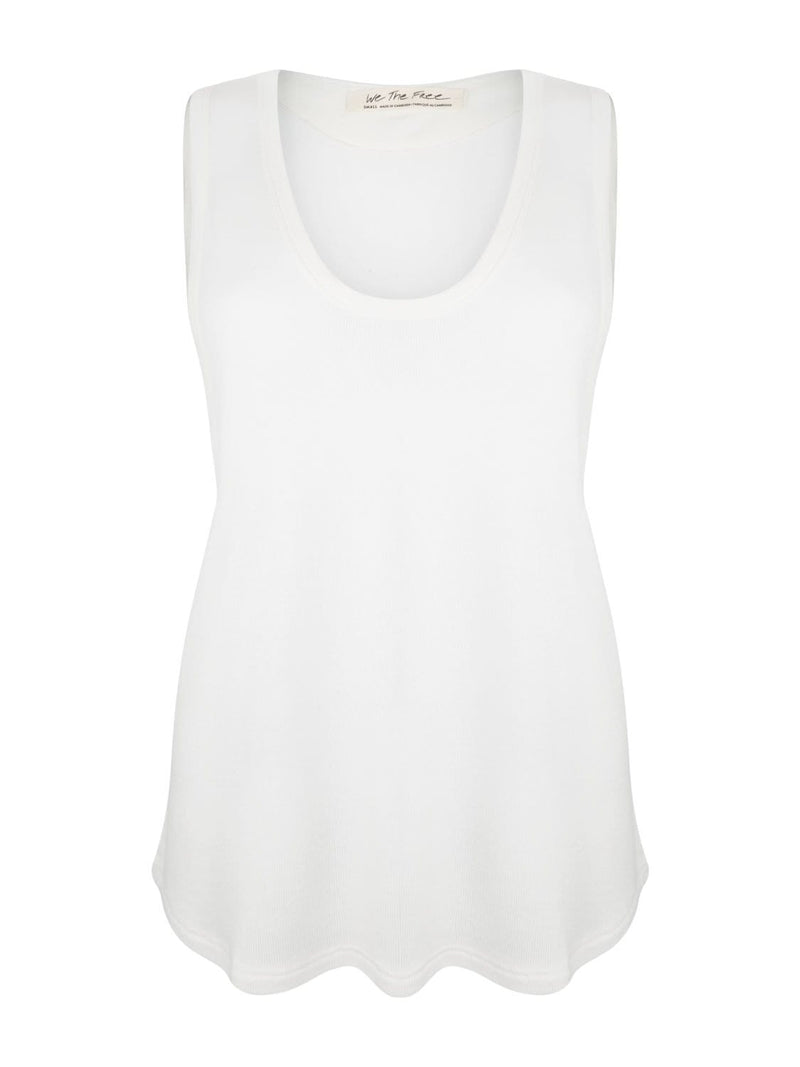Free People Loungewear Take the Plunge Tank - White