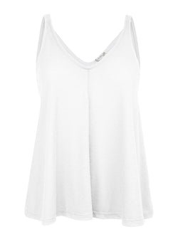 Free People Loungewear White Relaxed Fit Tank