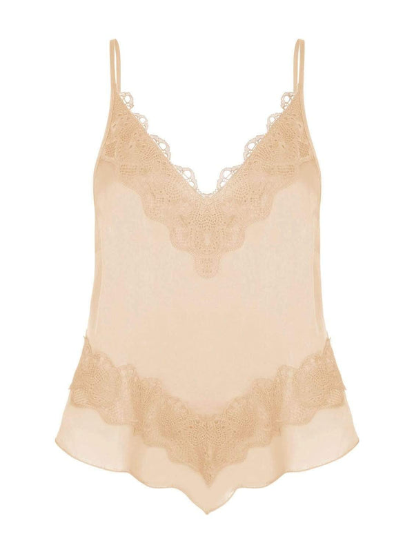 Free People Loungewear Your Eyes Only Cami - Peach
