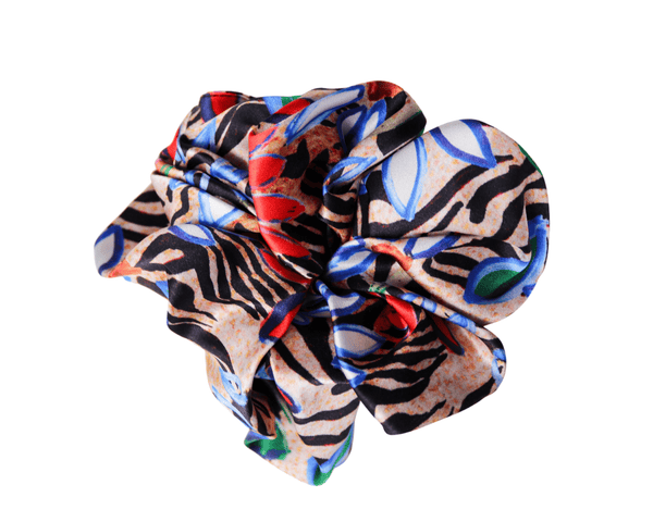 Jessica Russell Flint Scrunchie Painted Zebra Silk Scrunchie
