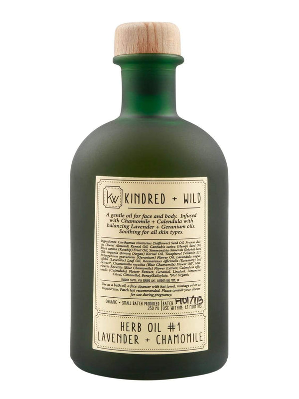 Kindred + Wild Bath Oil Lavender + Chamomile Bath Oil