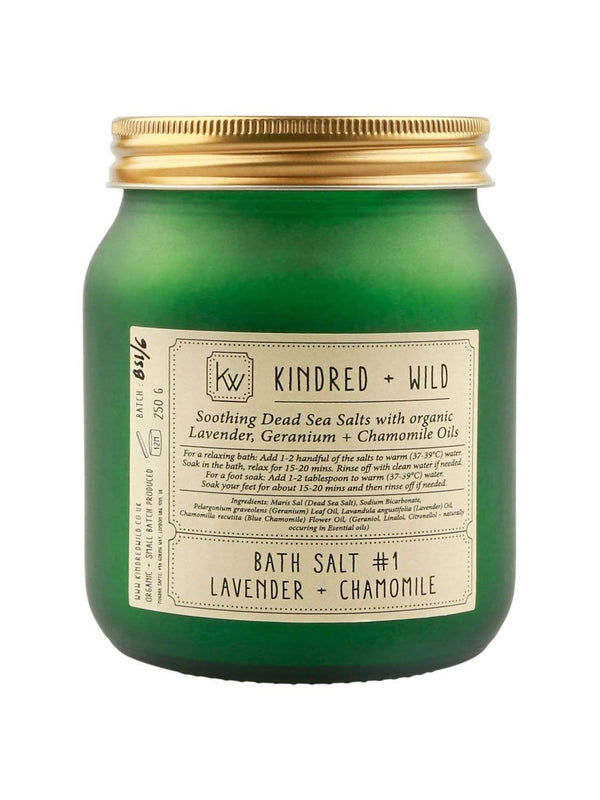 Kindred + Wild Bath Salts 250g Lavender + Chamomile Bath Salts