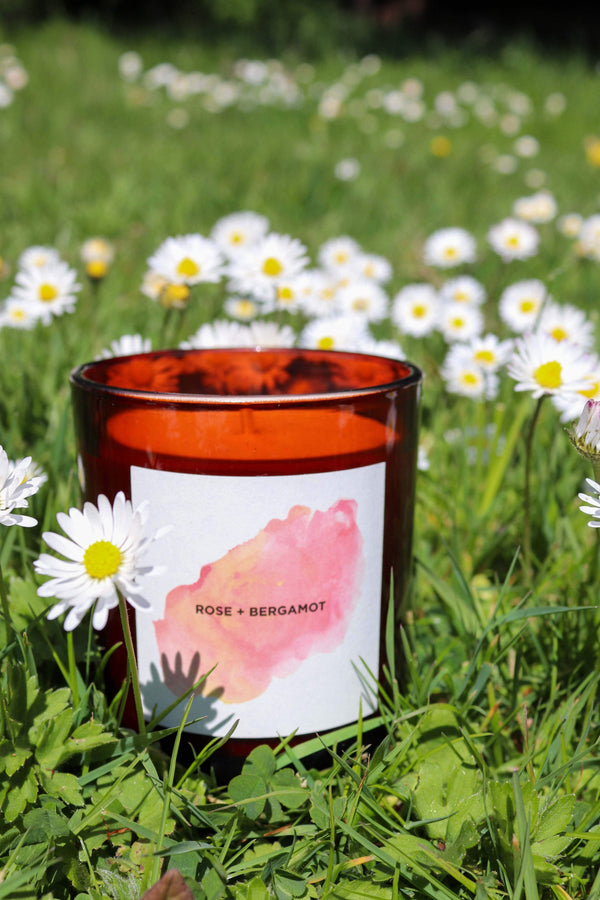 Self Care Co Candle Rose Geranium + Bergamot Aromatherapy Candle