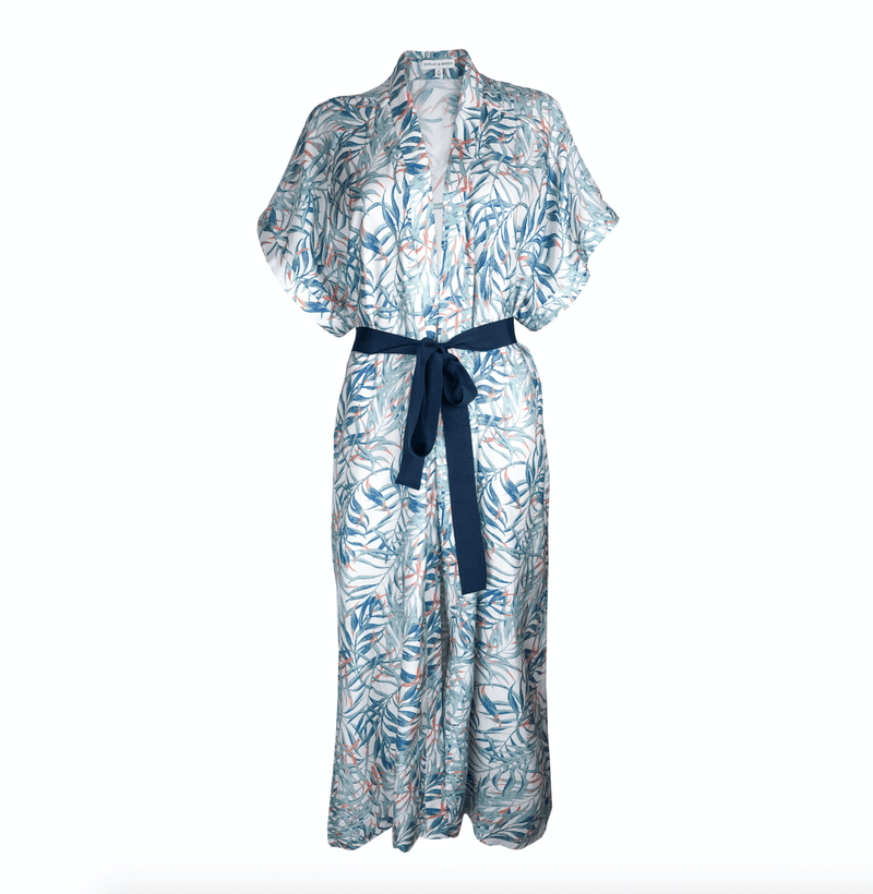 Violet & Wren Dressing Gown One Size Yuma Vine Maxi Robe