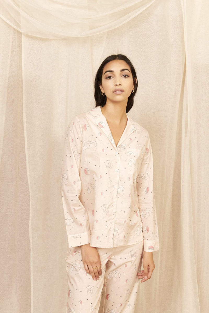 Yolke Pyjamas Lovers Eclipse Powder Pink Pyjama Set