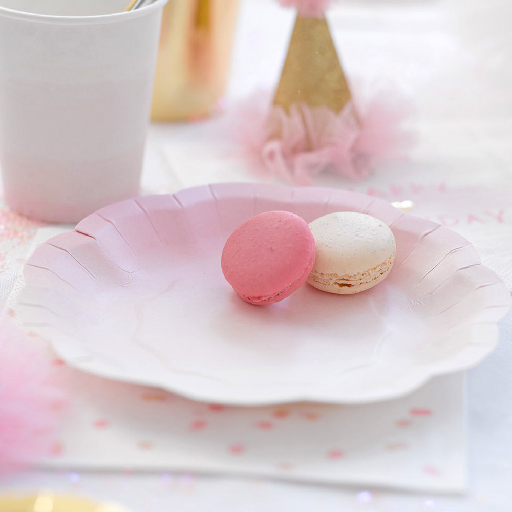 Pastel Pink & Gold Party Plates