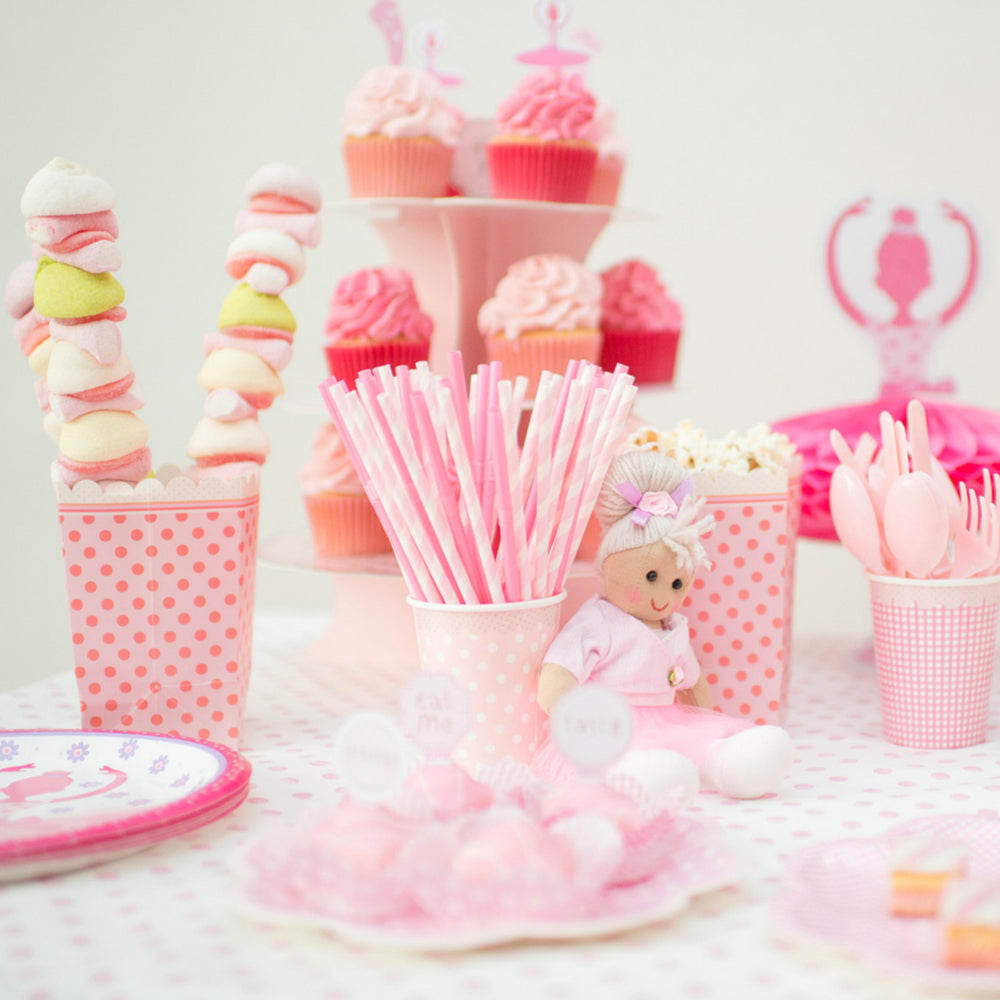 Pink & Pretty Party Straws