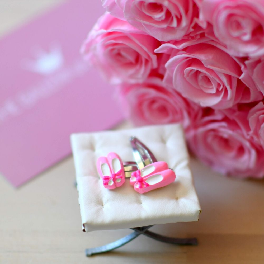 Ballet Shoes Hair Clips