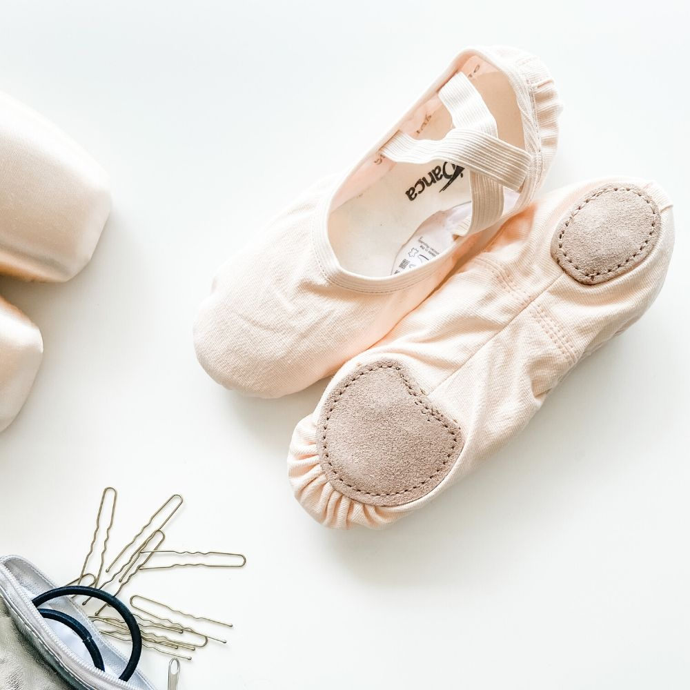 Canvas Split Sole Ballet Shoes