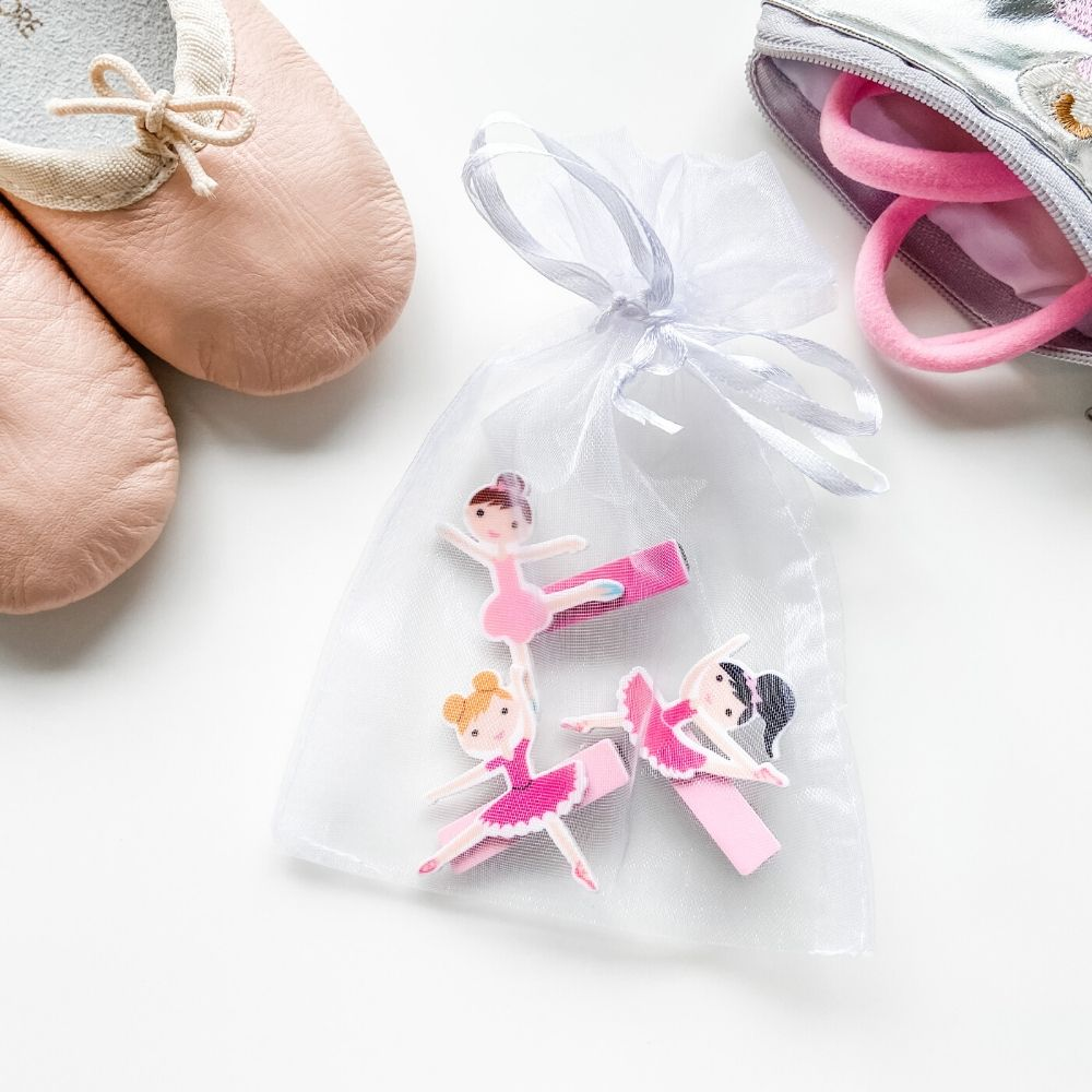Set of 3 Ballerina Hair Clips
