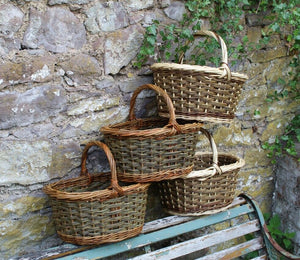 Shopping Basket - naturally colourful willows