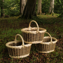 Load image into Gallery viewer, Shopping Basket -peeled white & natural willows
