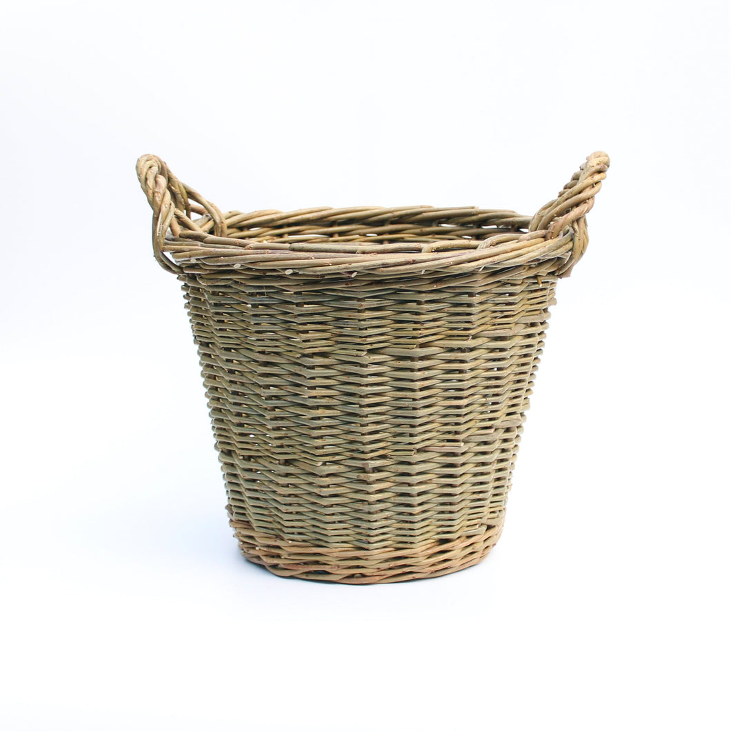 (Customer request) Small Round Log Basket (Randed weave)