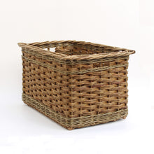 Load image into Gallery viewer, Rectanglar Log Basket (slewed Weave)