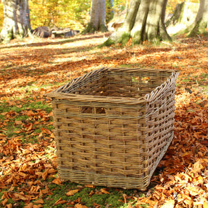 Rectanglar Log Basket (slewed Weave)