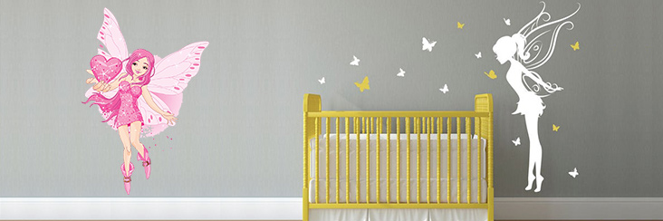 Angel Castle Princess Fairy Wall Decals for Kids