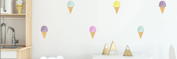 Ice Cream Cone Wall Decals