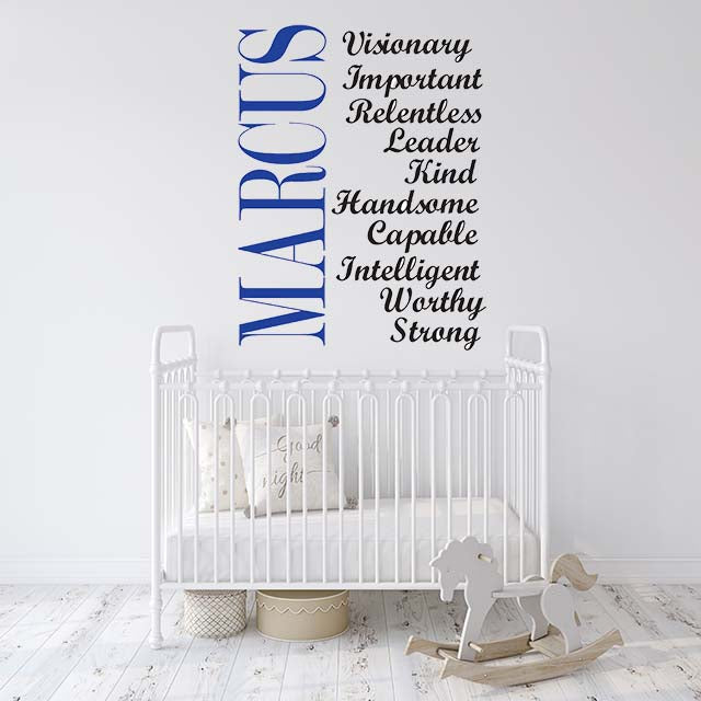Customized Name & Words of Inspiration Wall Decal