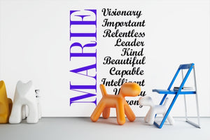 Customized Name & Inspirational Wall Decal