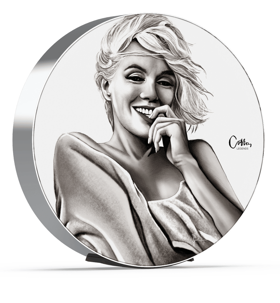 Skiniplay x Cotton Legends Marilyn cover for Beosound Edge by Bang & Olufsen