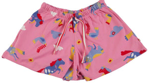 Short caballitos rosado