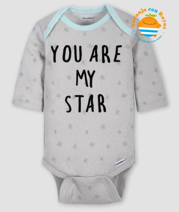 Mameluco you are my star 6-9 meses