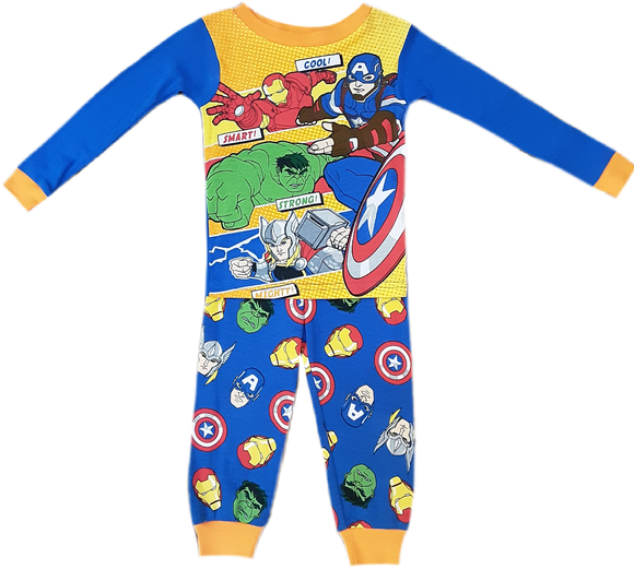 Pijama Avengers cool , Smart,  strong , Michty 2 Años