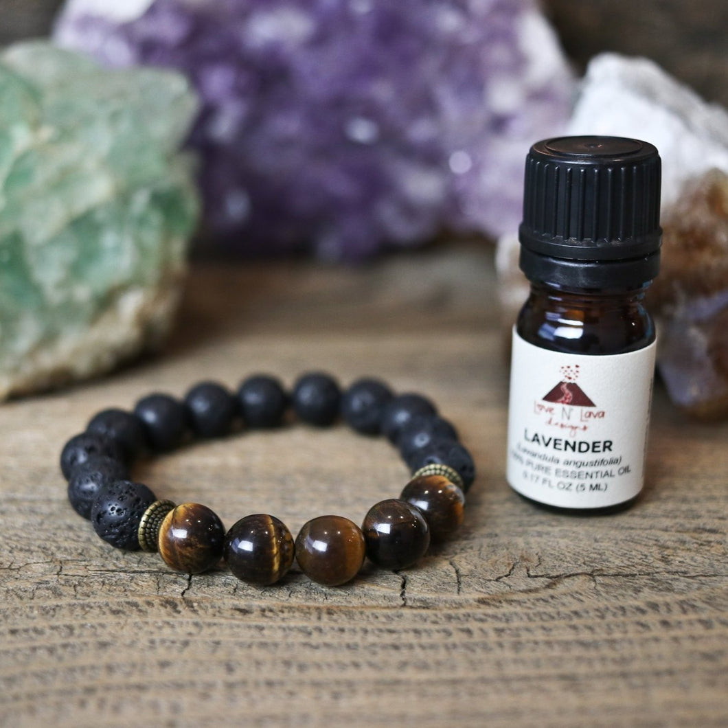 Tiger Eye Aromatherapy Essential Oil Diffuser Bracelet (10mm beads)