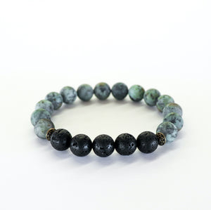 African Turquoise (Matte) Aromatherapy Essential Oil Diffuser Bracelet (10mm beads)