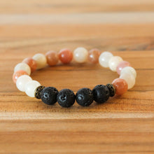 Rainbow Moonstone Aromatherapy Essential Oil Diffuser Bracelet (8mm beads)