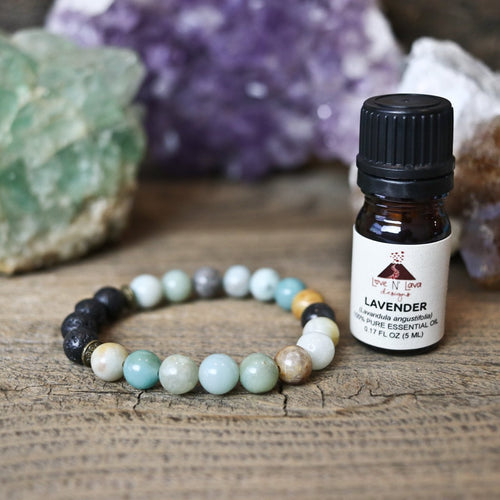 Colorful Amazonite Aromatherapy Essential Oil Diffuser Bracelet (8mm)