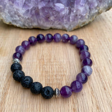 Dream Amethyst Aromatherapy Essential Oil Diffuser Bracelet (8mm beads)