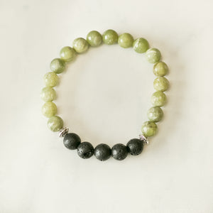 Peridot Aromatherapy Essential Oil Diffuser Bracelet (8mm beads)