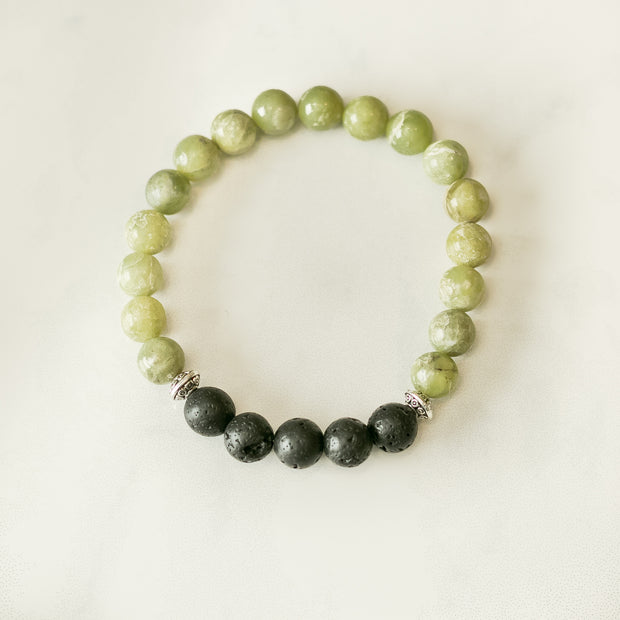 Peridot Aromatherapy Essential Oil Diffuser Bracelet (8mm beads) 1