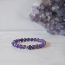 Amethyst Skinny Stacker Bracelet (6mm beads)