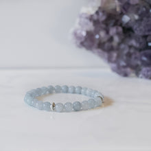 Aquamarine Skinny Stacker Bracelet (6mm beads)