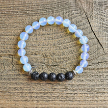 Children's Opalite Aromatherapy Essential Oil Diffuser Bracelet (6mm beads)