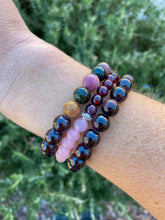 Garnet Aromatherapy Essential Oil Diffuser Bracelet (8mm beads)
