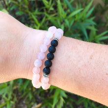 Rose Quartz Aromatherapy Essential Oil Diffuser Wrap Bracelet (6mm beads)