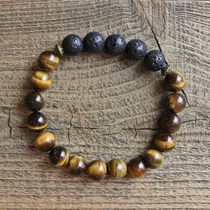 Tiger Eye Aromatherapy Essential Oil Diffuser Bracelet (8mm beads)