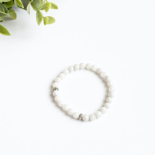 Moonstone Skinny Stacker Bracelet (6mm beads)