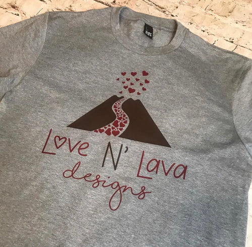 Love N' Lava Design Logo T-Shirt