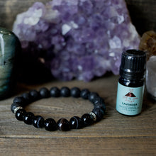 Black Stripe Agate Aromatherapy Essential Oil Diffuser Bracelet (10mm)