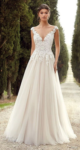 v-necklines wedding dress