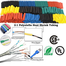 Load image into Gallery viewer, 164pcs/Set Heat shrink tube kit Insulation Sleeving termoretractil Polyolefin Shrinking Assorted Heat Shrink Tubing Wire Cable