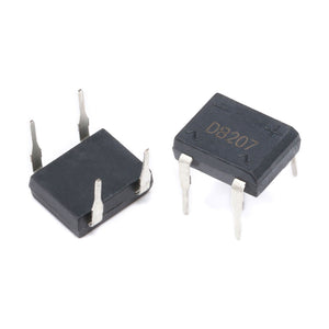 20PCS/lot diode bridge retifica DB207 DIP-4 DB207S DIP4 2A 1000V power diode rectifier 1000v electronic components